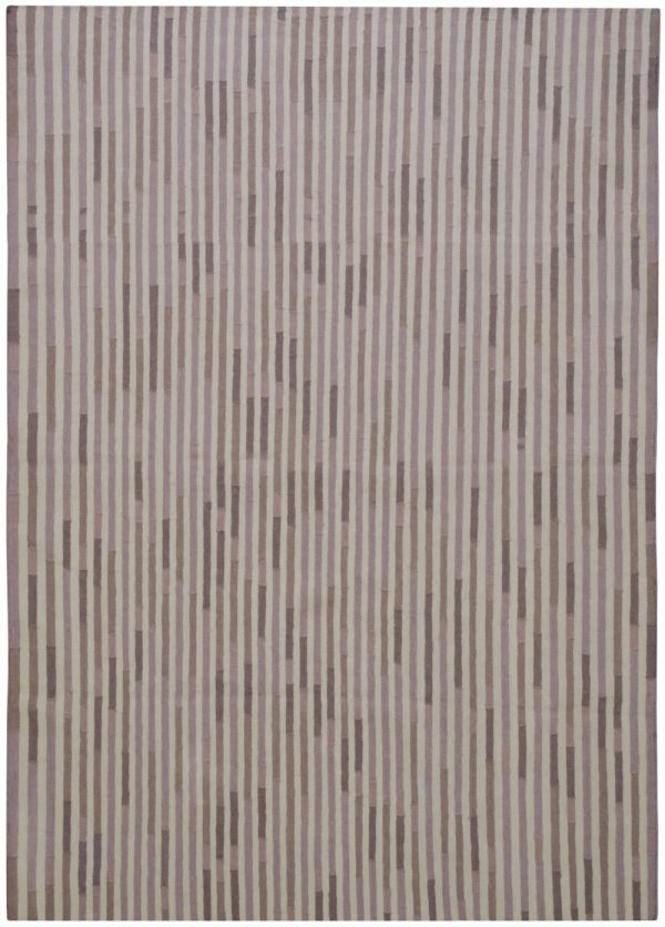 I+I_Tempo Uno_warmgrey, wool tappeto carpet rug handwoven design in Milan Italy India