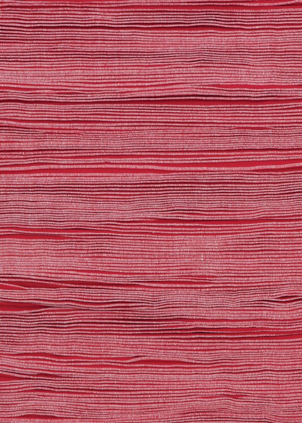 I+I_Wavelenght_red-white, wool tappeto carpet rug handwoven design in Milan Italy India detail