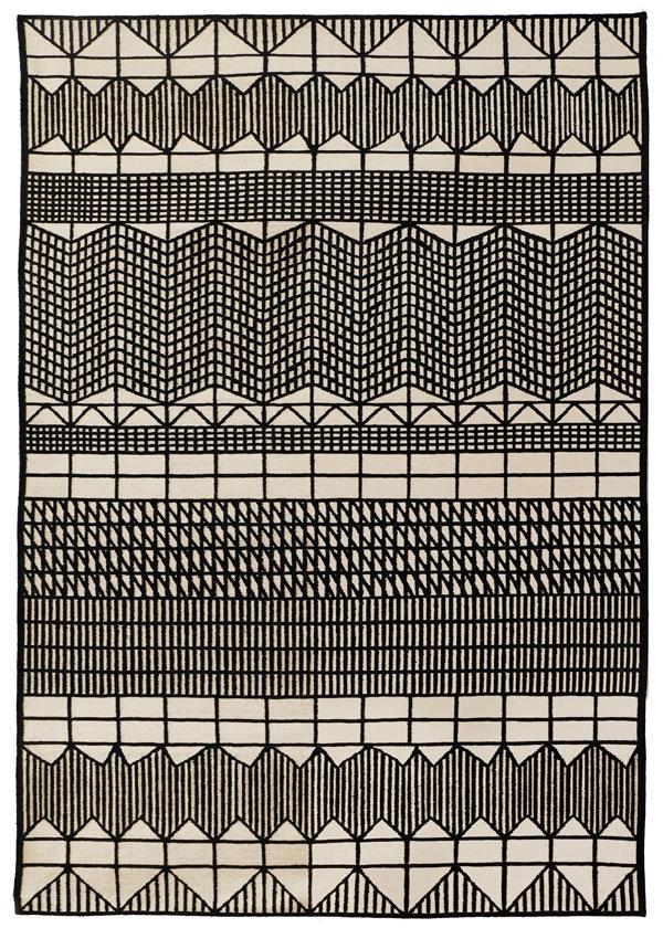 doodle hatch tappeto carpet rug handmade